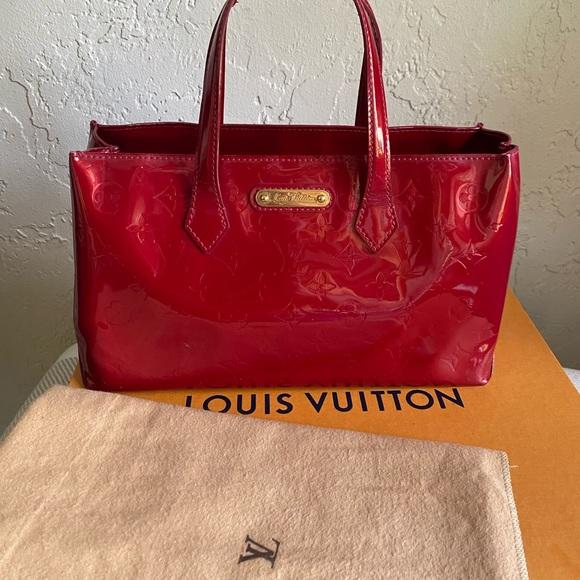 Louis Vuitton Handbags - Louis Vuitton Vernis Red Wilshire PM